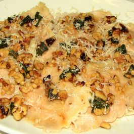 Savory Butternut Squash Ravioli with a Sage & Walnut Brown Butter Sauce