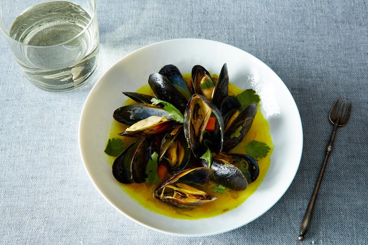 Mussels with Spices, Ginger, Lemongrass and Coriander Recipe on Food52