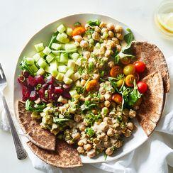 Gena Hamshaw's (Vegan) Deli Bowls With Smashed Chickpea Salad