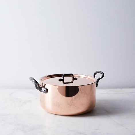 de Buyer Induction Copper Stock Pot, 5.70 QT