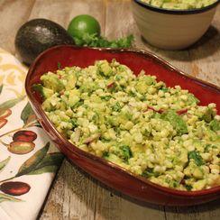 Warm Avocado and Corn Salad