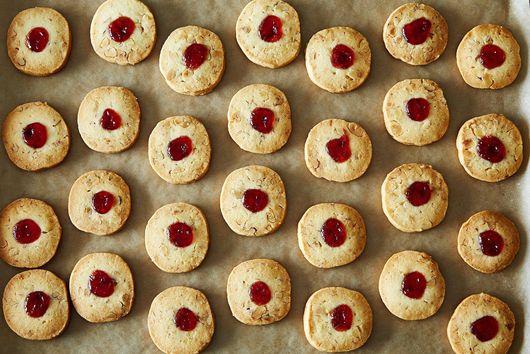 Strawberry-Kissed Walnut Sablés