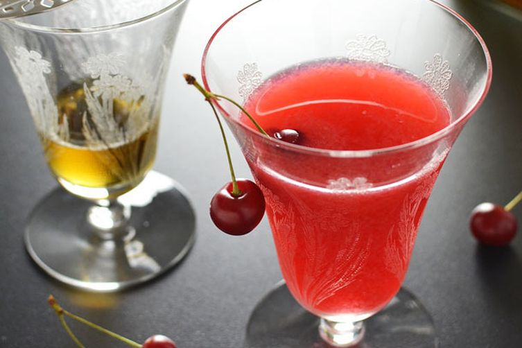 Sour Cherry Absinthe Cocktail