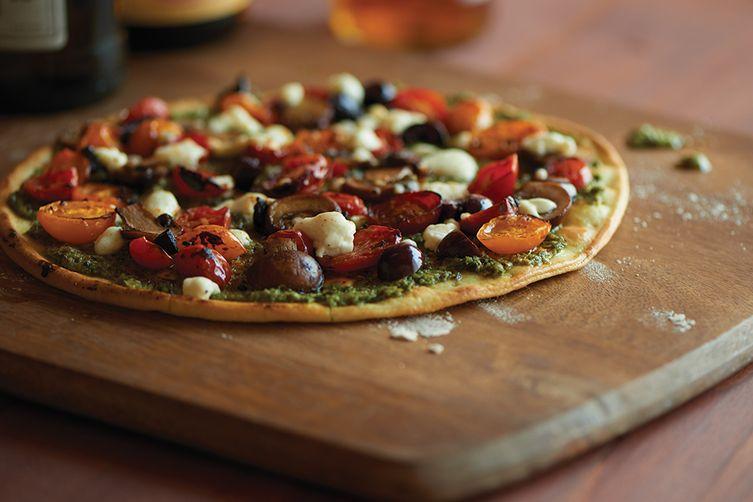 Vegetable Pesto Pizza