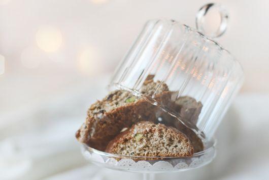 Brown Berry Pistachio Biscotti