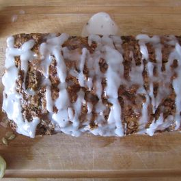 Whole Wheat Zucchini Spice Cake with Lemon Glaze