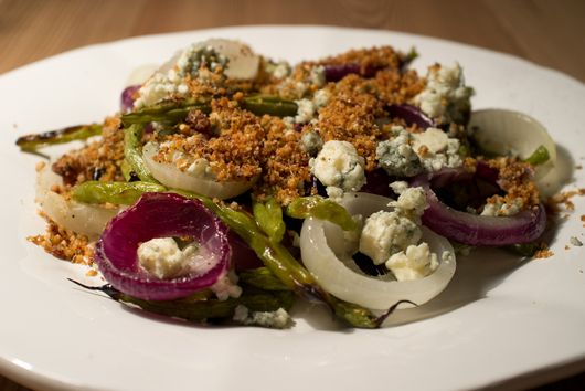 Grilled Summer Vegetables with Rosemary-Raisin Bread Crumbs