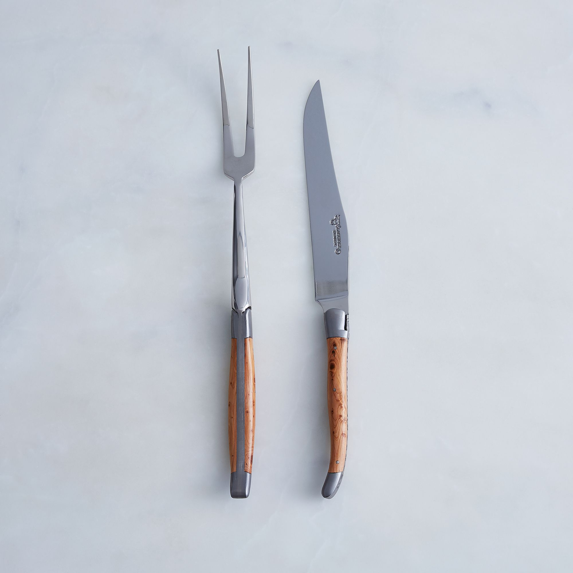 Laguiole en Aubrac Juniper Carving Set on Food52
