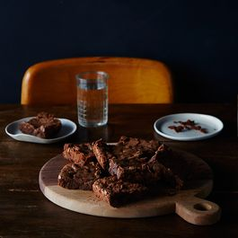 Mario Batali's Double-Chocolate Pot Brownies
