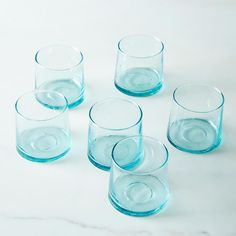 Handblown Moroccan Glass Tumblers (Set of 6)
