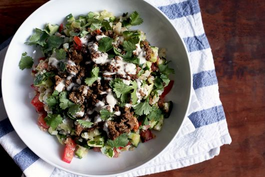 Spiced Lamb with Cauliflower Tabbouleh