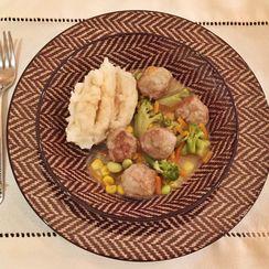 Turkey Meatballs, Pot Pie Style