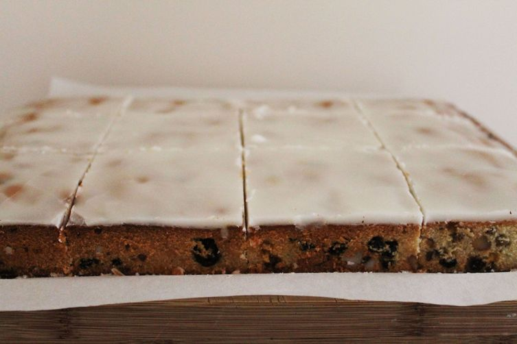 Bourbon Fruitcake Bars