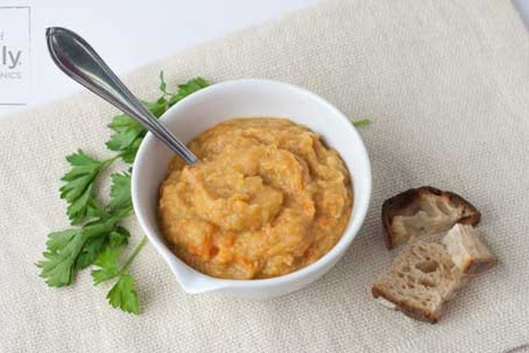 Organic Ginger Carrot Soup with Red Lentils