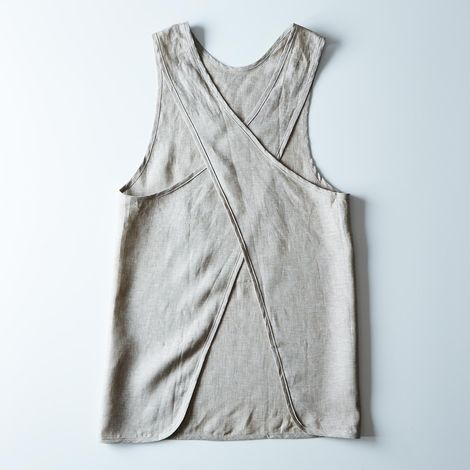 Cross Linen Apron