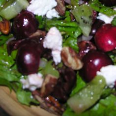Cherry Kiwi Pecan with Feta and Anchovies