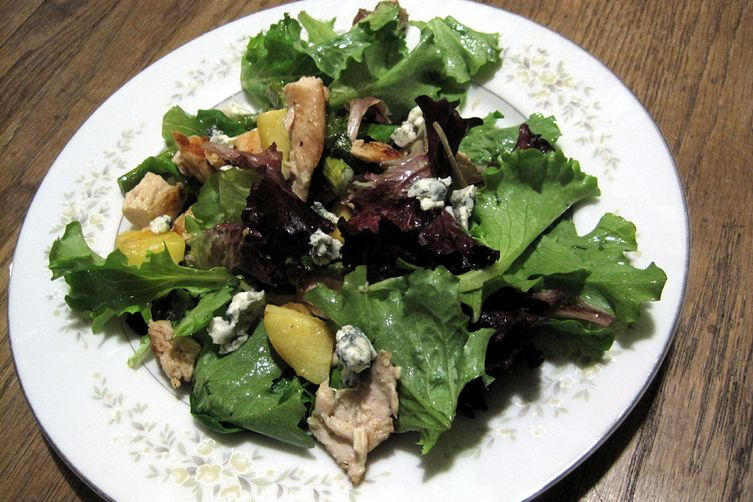 Roasted Apple and Asparagus Salad with Chicken