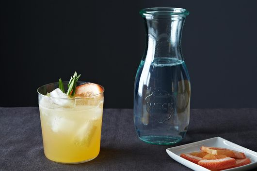 Grapefruit Tarragon Gin and Tonic