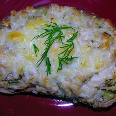 Herbed salmon melt