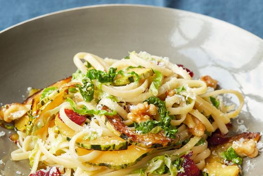 Pasta with Cabbage, Winter Squash and Walnuts