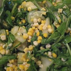 Wilted Zucchini Salad with Sweet Corn and Arugula