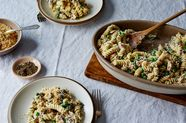 "Noodles with Tuna and Peas (""Tuna Pea Wiggle"")"