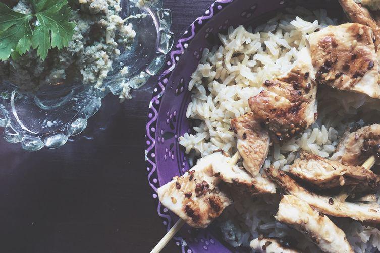 Sesame & Honey Chicken Kebabs