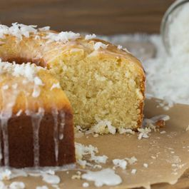 Coconut Pound Cake with Coconut Glaze