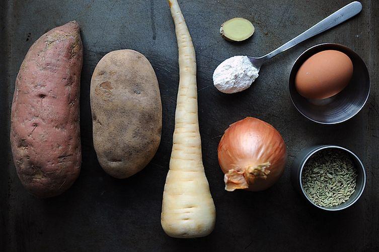 Variegated Spiced Latkes Recipe on Food52
