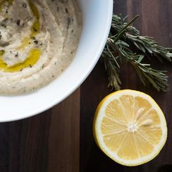 White Bean Dip with Roasted Garlic & Rosemary