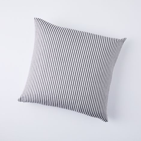 Vintage-Inspired Ticking Stripe Pillow