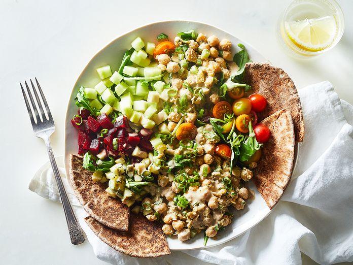 This Genius Smashed Chickpea Salad Is Vegan, Big-Batchable Comfort Food