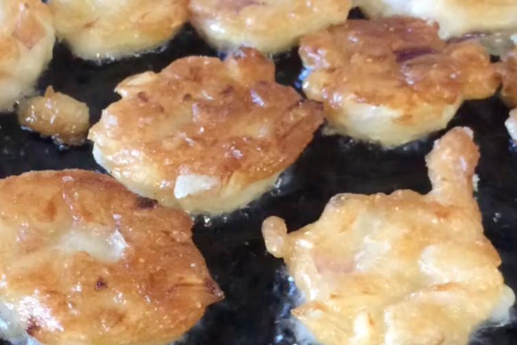 Sourdough Onion Fritters