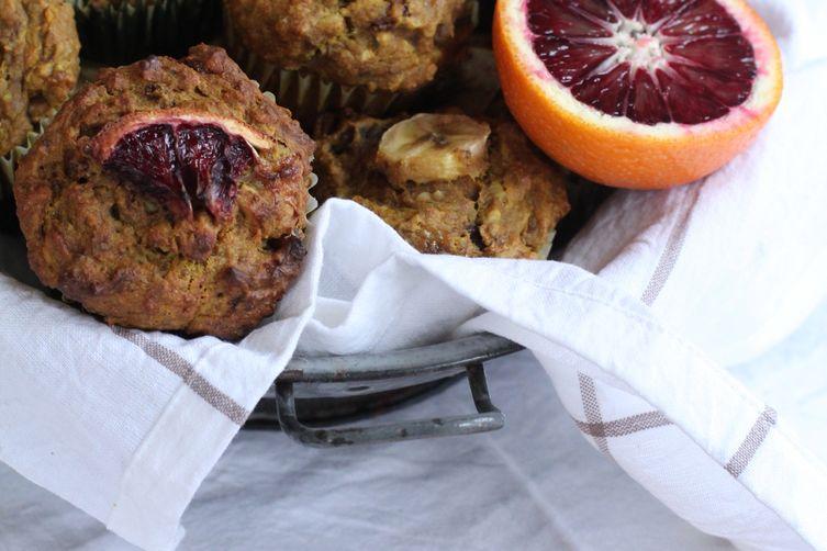Turmeric, Banana & Blood Orange Muffins
