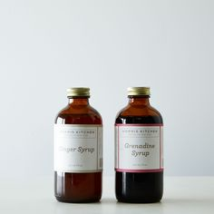 Grenadine & Ginger Syrups