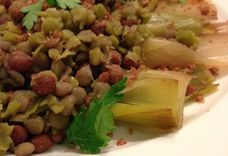 Leeks and Lentils with Parsley