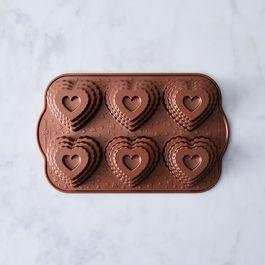 Nordic Ware Tiered Heart Cakelets Pan