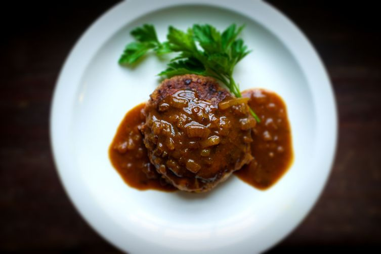Japanese Chopped Steak With Caramelized Onion Curry Gravy (Hambagu)