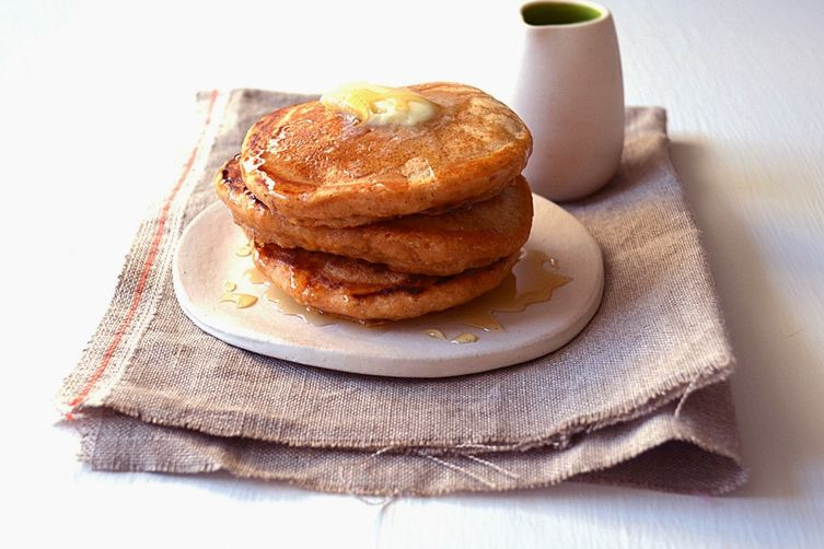 Light & Fluffy Whole Wheat Pancakes