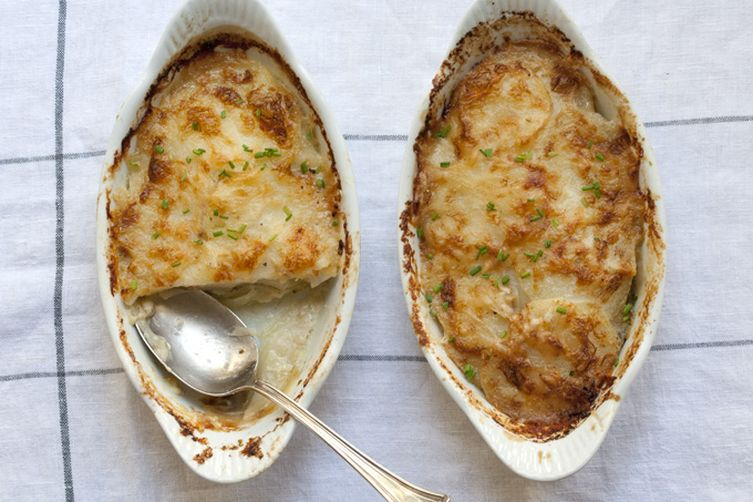 Potato Gratin with Green Chile
