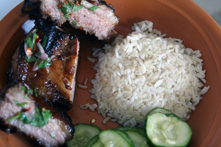 Thai-Style Grilled Short Ribs with Spicy Dipping Sauce