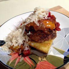 Polenta and Sausage Stack