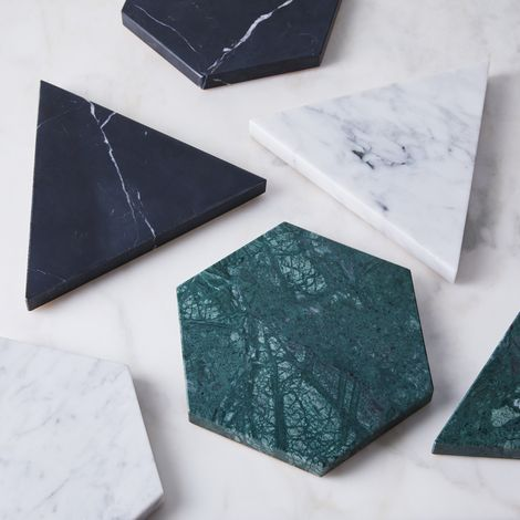 Marble & Leather Trivet & Platter