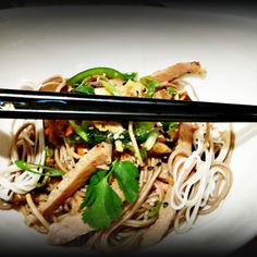 Asian 'Pork Chop & Eggplant Soba Noodle Medley