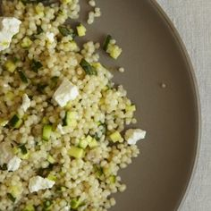 Retro Recipe: Couscous Salad with Zucchini, Lemon and Ricotta Salata