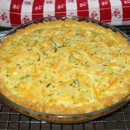 Zucchini Quiche in a Cheesy Brown Rice Crust