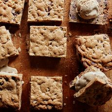 Chocolate Chip Cookie Cake Ice Cream Sandwiches