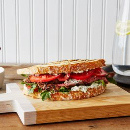 Herbed Feta and Steak Sandwich