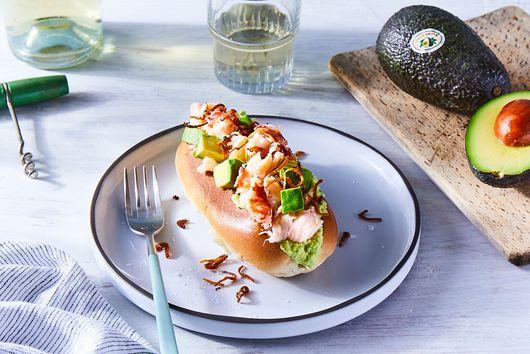 Avocado Lobster Rolls With Crispy Shallots