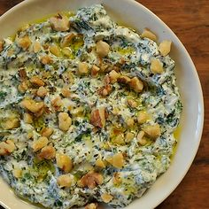 Yoghurt & Spinach Dip, 'Borani Esfanaaj', in the Persian Manner